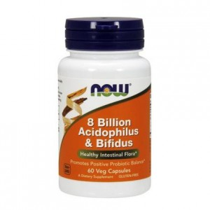 8 Billion Acidophilus & Bifidus NOW FOODS 60 kaps