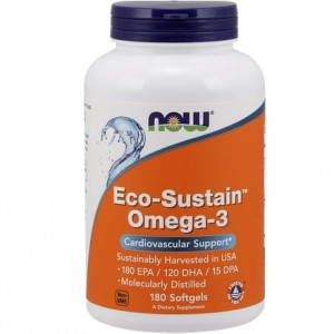 Eco-Sustain Omega-3 NOW FOODS 180 kaps