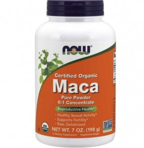 Maca 6:1 Concentrate Pure Powder NOW FOODS 198g
